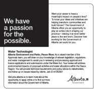 Water Technologist wanted