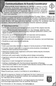 Communications & Events Coordinator wanted