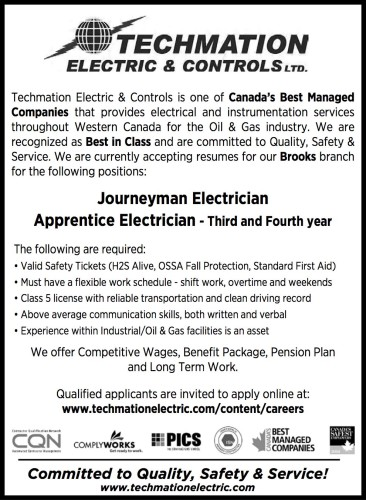 Journeyman Electrician & 3rd/4th Year Apprentice Electrician wanted