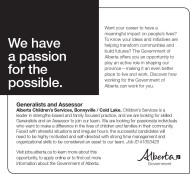 Generalists and Assessor wanted
