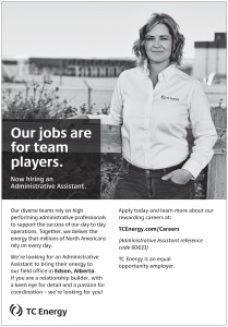 Tc Energy Is Now Hiring An Administrative Assistant.