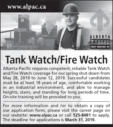 Tank Watch/Fire Watch Coverage Wanted